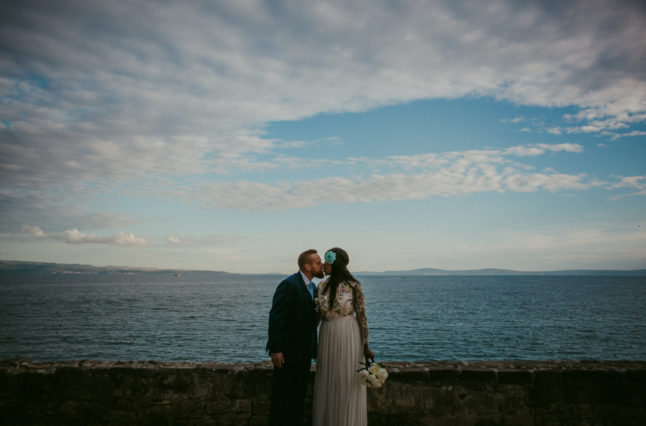 Split Beach Wedding