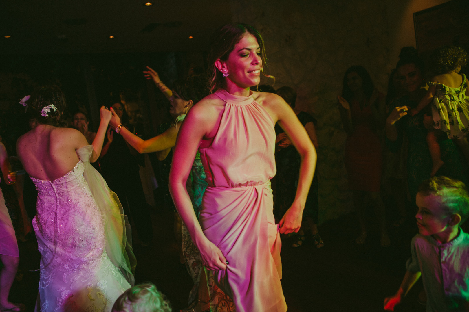 Bridesmaid dancing at wedding reception
