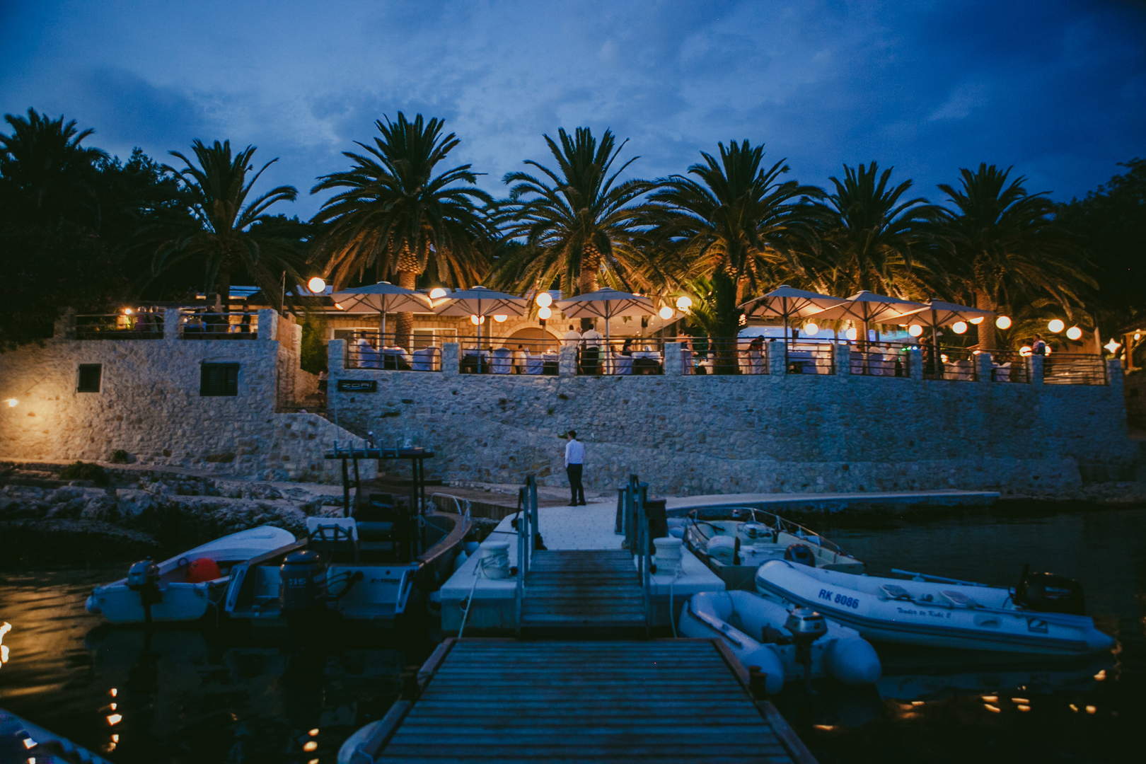 Front view of Zori restaurant, Hvar