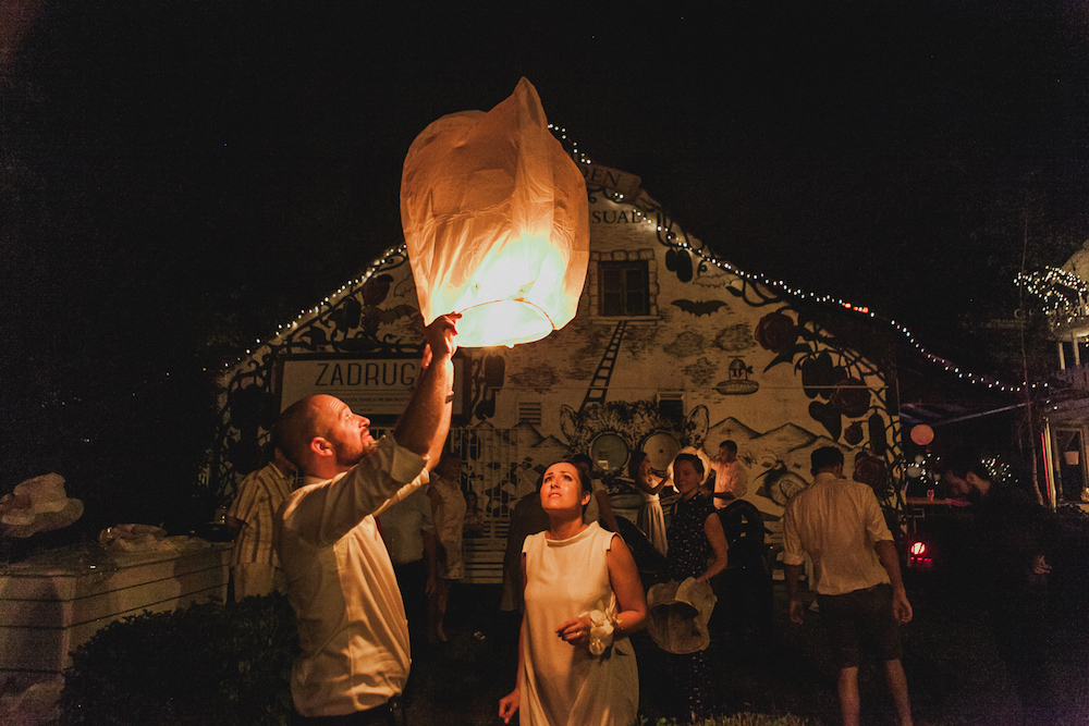 Wedding idea sky lantern