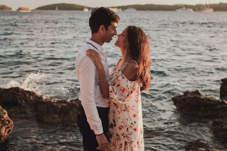 Beach engagement photos Croatia